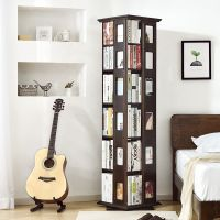 Kids Library Wood Rotating Bookcase