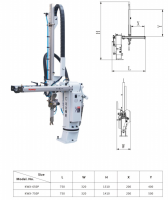 pneumatic cylinder controlled swing arm robot arm for injection molding machine industrial plastic injection robot arm