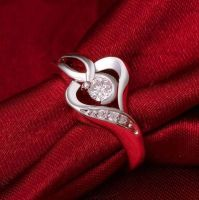 1ct Heart Shaped Moissanite Ring