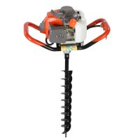 One Man Soil Drills Petrol Earth Borer Post Hole Auger Hand Held
