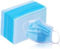 Earloop Face Mask, Sanitary Surgical Face Shields, Dust Mask, Blue (50)