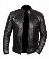 Black Leather Jacket | 100% Cow leather | Customization Option Available