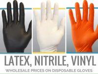 Latex, Nitrile and Vinyl Gloves