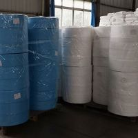 blue waterproof breathable 25 GSM N95 BFE95 Non Woven pp filter cloth BFE99 meltblown nonwoven fabric for mask protection 1 buyer