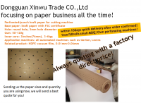 Brown perforated kraft paper roll wholesale from China