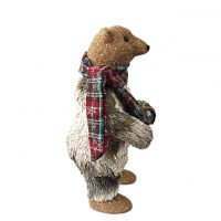 Standing Bear scarf Christmas bear glittery decorations