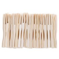 disposable bamboo forks factory Stocked fruit fork
