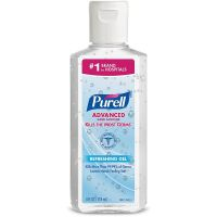 PURELL Advanced Hand Sanitizer Soothing Gel 4 fl oz Portable Flip Cap Bottle