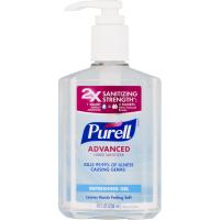 PURELL Advanced Hand Sanitizer Green Certified Gel 8 fl oz Table Top Pump Bottle