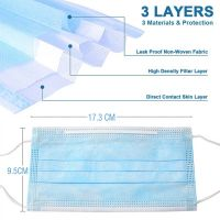 Antivirus ear loop face mask Disposable Face Mask 3 ply surgical mask at Bulk Quantity