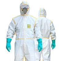 Aami 3 level 2 disposable protective plastic ppe cpe isolation gown
