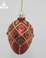 Yangzhou Factory Wholesale Hand Blown Hanging Christmas Decorative Easter Eggs Glass Ornaments For Gift and Decoration