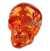 Custom design decorative craft glass pumpkin shaped ornaments for Halloween