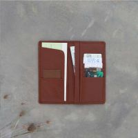 Coat wallet leather for travel