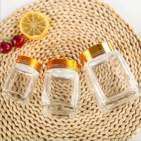 100ml 180ml 280ml Square Glass Honey Jar with Lid