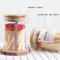 Custom Matchbox Matches Glass Jar With Cork
