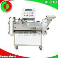 Multifunctional double-head vegetable cutting machine