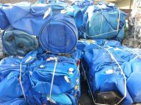 Best Quality HDPE blue drum baled scrap/HDPE blue drum In Bales for sell