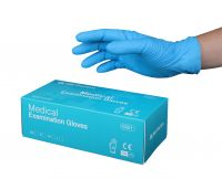 Multiple sizes colored nitrile gloves disposable gloves