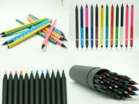 Black wood color pencils