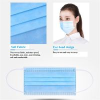 Disposable Face Mask Cover 3-Ply Non-woven use government white list FDA CE, EN certificated