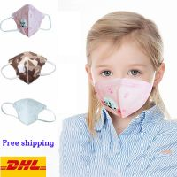kids KN95 valves Face Mask anti dust N95 youth child Protective mask with breather Valve reusable children mask 4 Layersl freeshipping