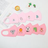 PM2.5 Children Anti-pollution Masks Boys Girls Cartoon Mouth Face Masks Kids Anti-Dust Breathable Earloop Washable Reusable Cotton Mask