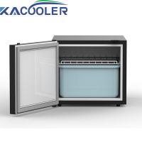 Upright Fridge Freezer door with Security Lock with Reversible Door - Black 50L