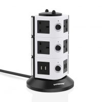 SAFEMORE Power Strip 10-Outlet with 4 Smart USB Charging Station