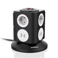 zoom Vertical 6-outlet Power Strip with SMART USB Charging