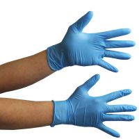Hampool Hot Selling Disposable Blue Nitrile Gloves