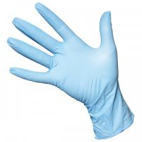 Powder free disposable blue long nitrile examination gloves