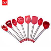 Stainless Steel Silicone Kitchen Utensils Set