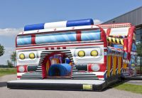 inflatable castle 0.55mm PVC bouncy house for kids commercial Low price inflatable car bouncer castle