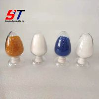 manufacture supply 1-8mm super dry white orange blue granule moisture proof raw material silica gel