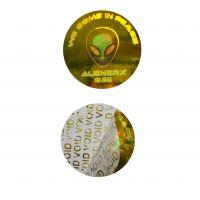 Custom VOID hologram security sticker