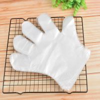 Disposable Transparent HDPE PE Plastic kitchen Gloves