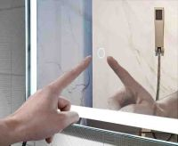2020 color turning backlit bluetooth cosmetic cabinet bathroom mirror
