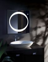 Square Art Vanity bluetooth Magnifying bath mirror wall mounted