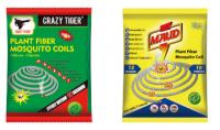 Mosquito Killer Coils Plant Fibre Mosquito Repellent Coils Fresh Scent + Brace 10 Coils Plastic Pack For Camping Picnics Deck