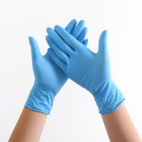 Examination Latex Gloves Nitrile Sky blue thicken Disposable Gloves