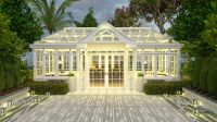 Garden glasshouse with durable high tension aluminum material