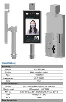 Non-contact Face recognition access control device with body temperature detector