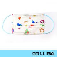 Cartoon Colorful Disposable Protective Face Mask For Kids Children Mask CE ISO FDA