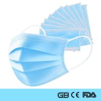 Three Layers Disposable Surgical Face Mask With ISO CE FDA SGS Certification