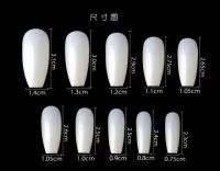 New Arrived 600pcs/Bag High Quality Nail Ballet Nails Decoration French ABS Artificial Fingernails