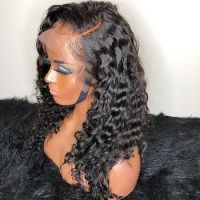 Peruvian Lace Front Wigs Natural Curly Full Lace Human Hair Wig for Black Women Glueless Cuticle Ali