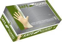 SAFEGUARD Latex Lightly Powdered Gloves, Medium, 100 Count