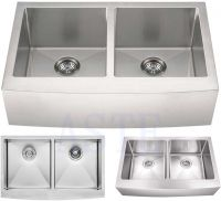 Asia&Pacific Area pressing double bowl stainless steel kitchen sink