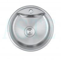 pressing single bowl stainless steel kitchen sink round